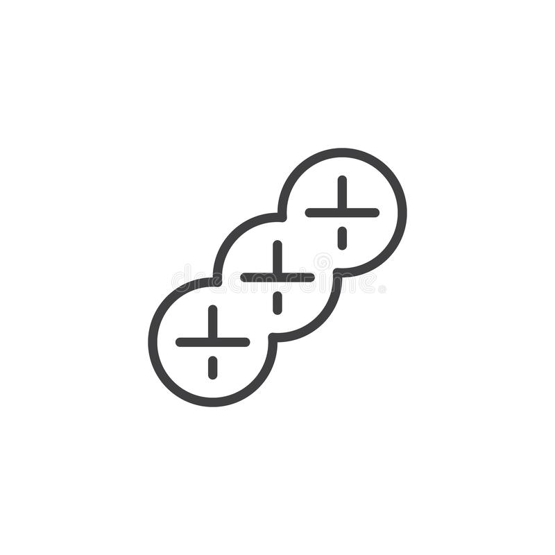 Braided bread outline icon stock illustration