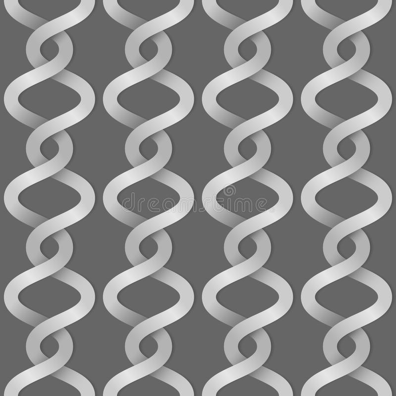 Braided paper stripes. Seamless background vector illustration