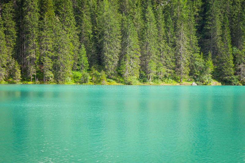 Braiesmeer in Dolomiti-gebied, Italië stock foto's