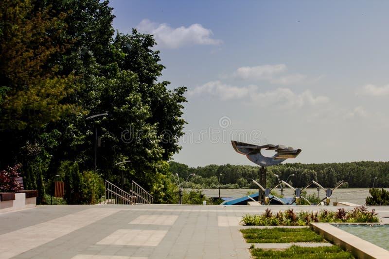 Braila esplanade. Esplanade, Braila city, Braila county, Romania royalty free stock image