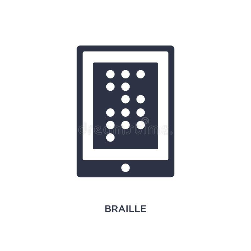braille ikona na białym tle Prosta element ilustracja od komunikacyjnego pojęcia royalty ilustracja