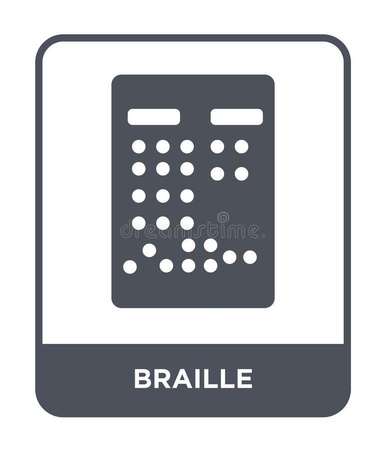 braille ikona w modnym projekta stylu braille ikona odizolowywająca na białym tle braille wektorowej ikony prosty i nowożytny pła ilustracja wektor