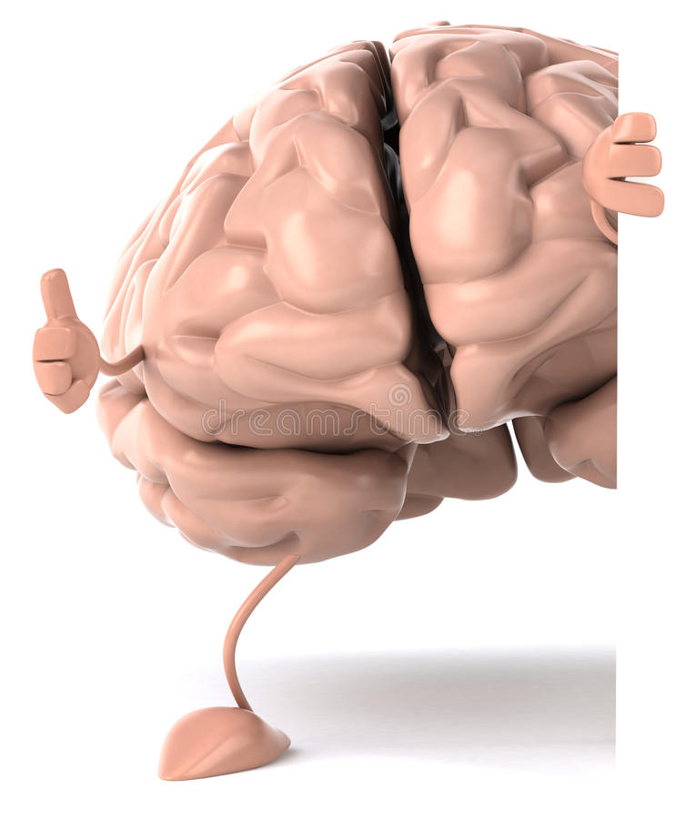 Brain. Fun brain, 3d generated picture vector illustration