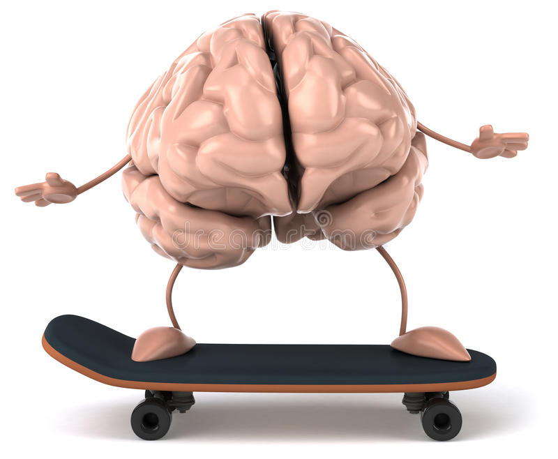 Brain. Fun brain, 3d generated picture royalty free illustration