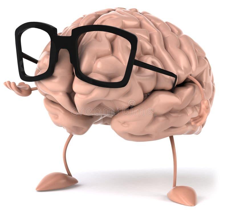 Brain. Fun brain, 3d generated picture vector illustration