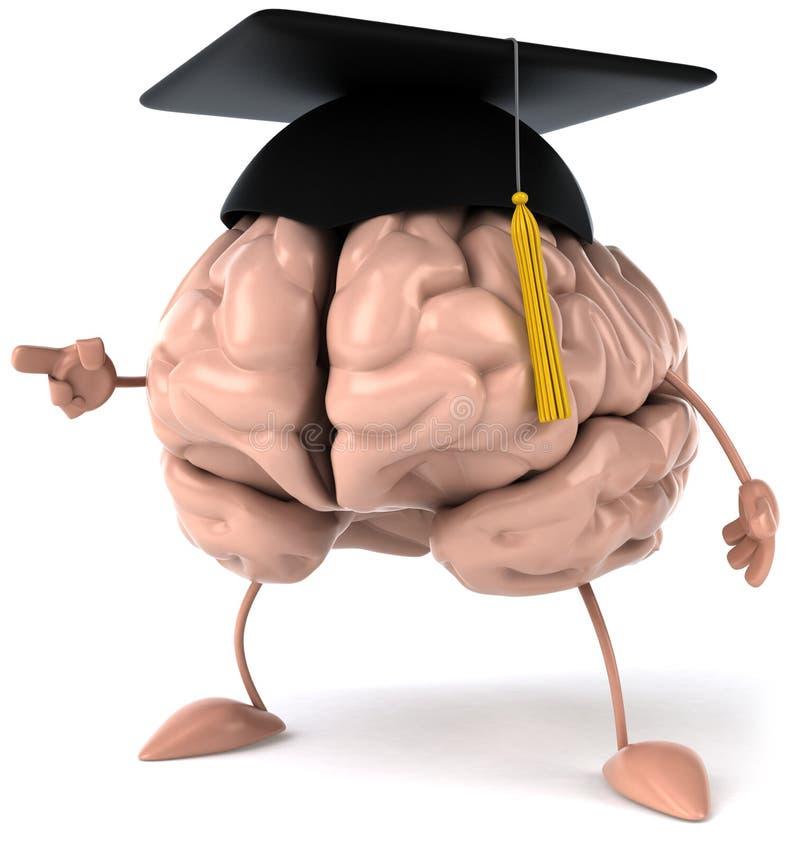 Brain. Fun brain, 3d generated picture stock illustration