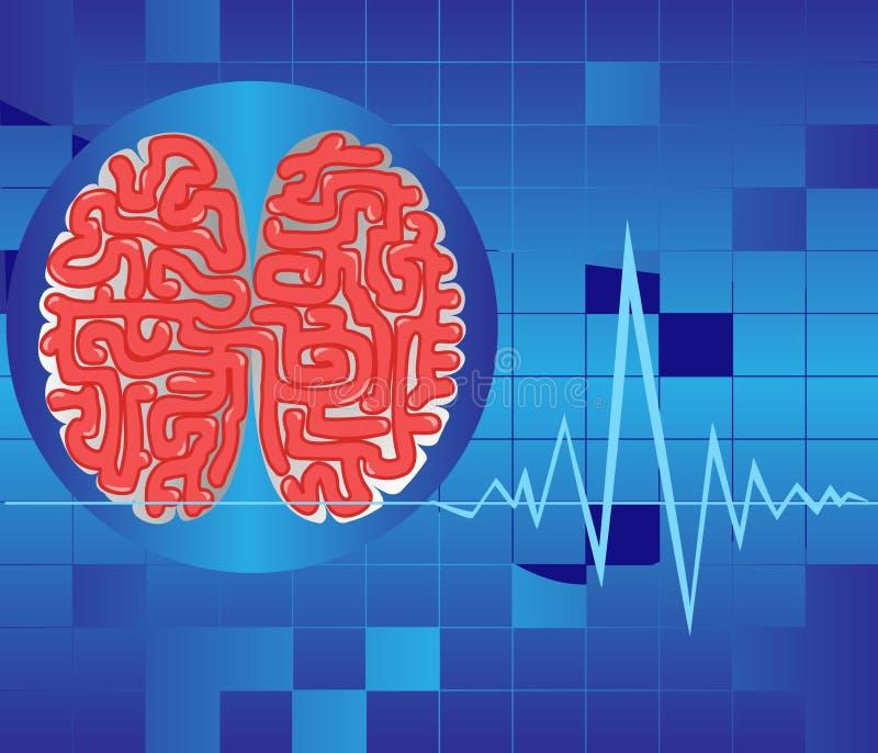 Brain activity royalty free illustration