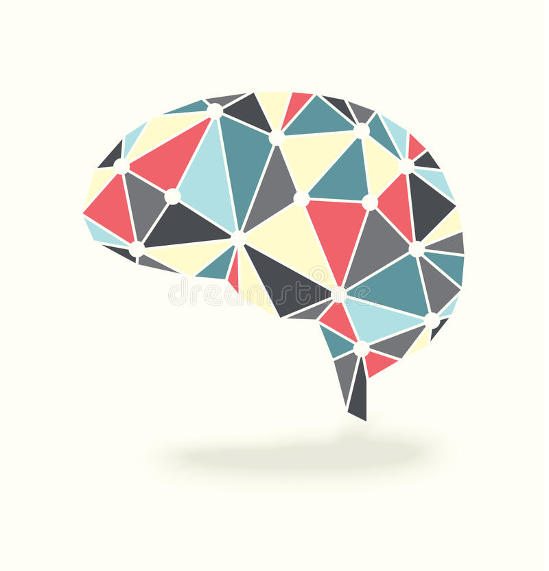 Brain Activity Abstract Vector illustrazione di stock