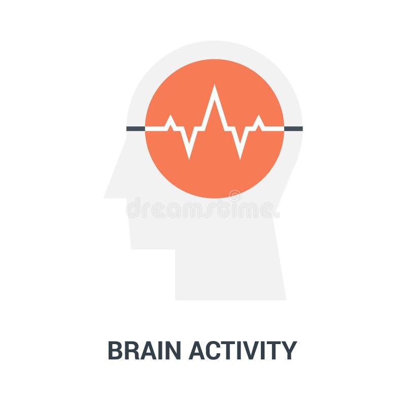Brain activity icon concept royalty free illustration