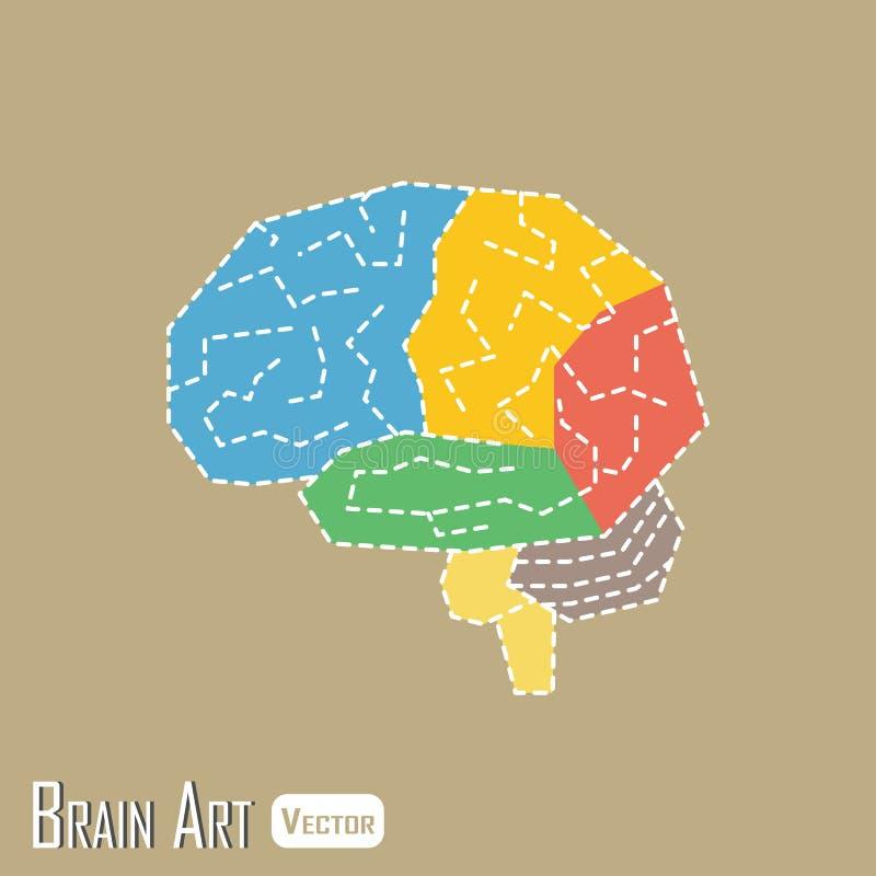 Brain Anatomy stock illustrationer