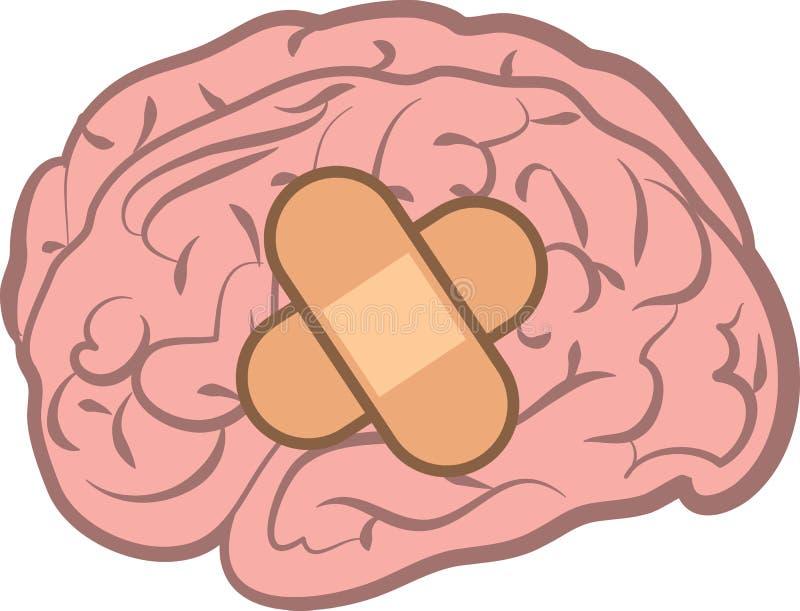 Brain Bandage ilustración del vector