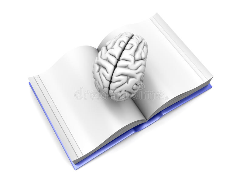 Brain Book Royalty Free Stock Images