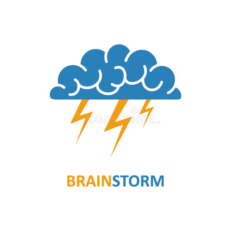 brain brainstorming idea creativity logo and icon vector stock vector illustration of. Black Bedroom Furniture Sets. Home Design Ideas