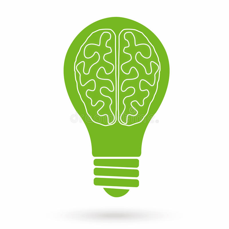 Brain bulb royalty free illustration