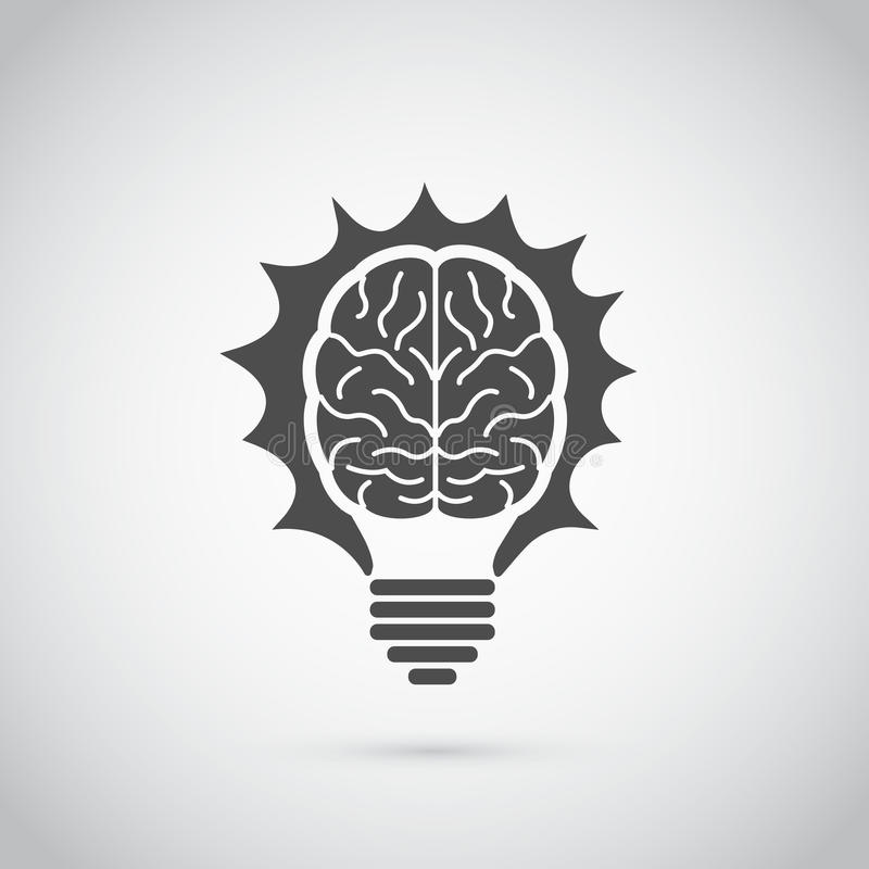 Brain bulb royalty free stock photography