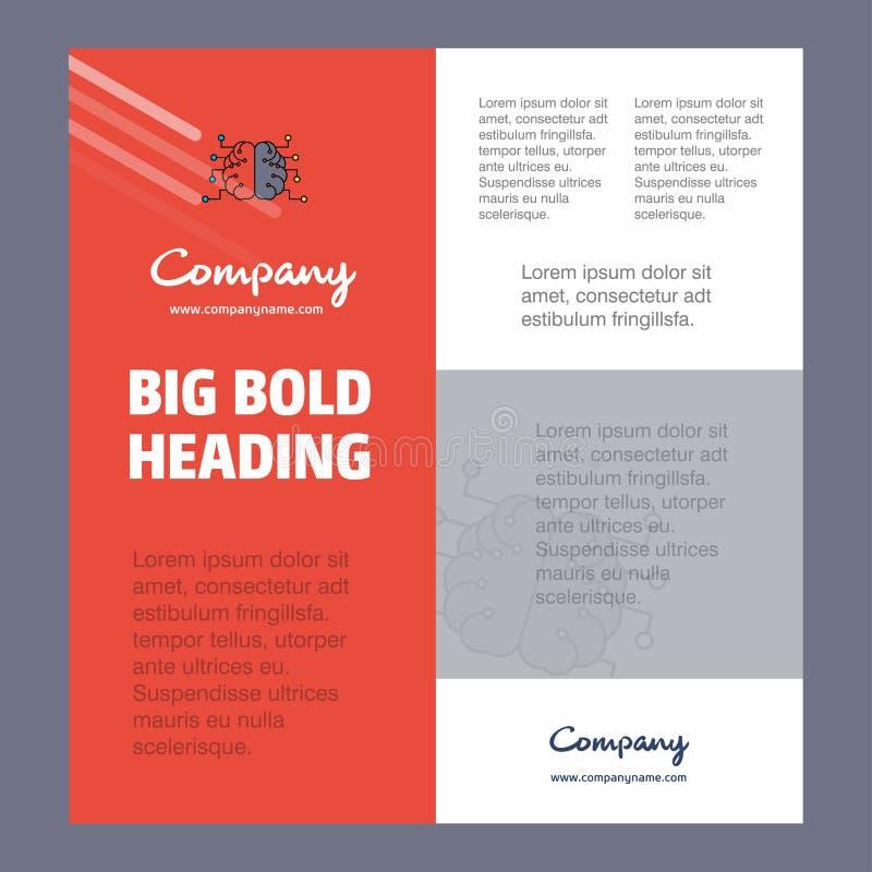 Brain Business Company Poster Template con el lugar para el texto y las imágenes Fondo del vector libre illustration