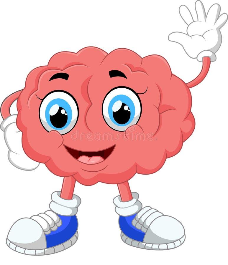 Brain cartoon illustration stock illustration