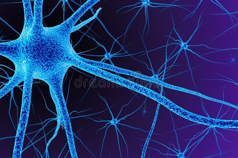Brain Cell 3d rendem ilustração do vetor