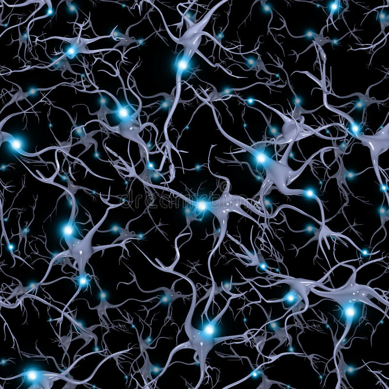 Brain Cells senza cuciture ripetibile royalty illustrazione gratis