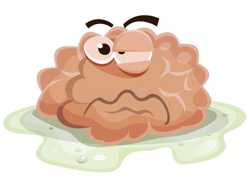 Brain Character endommagé illustration stock