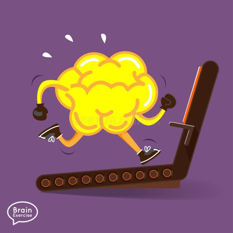 Brain. Charactor vector design fitness for smart  with dumbbell stock illustration