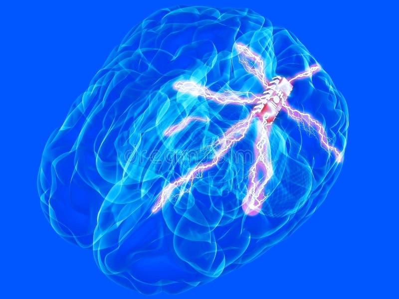 Download Brain chip stock illustration. Image of background, blue - 2225812