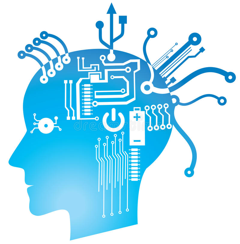 Brain circuit stock illustration
