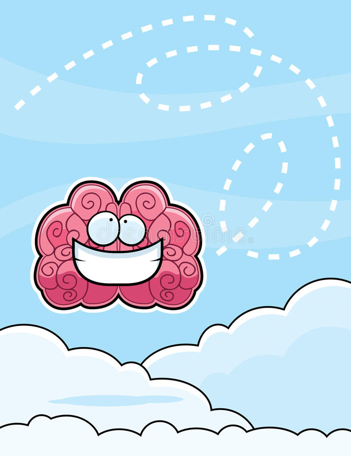 Download Brain in Clouds stock vector. Illustration of knowledge - 13092004