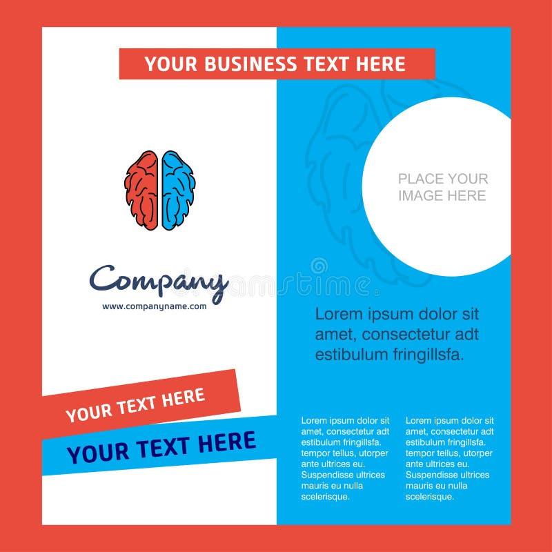 Brain Company Brochure Template Molde de Busienss do vetor ilustração stock