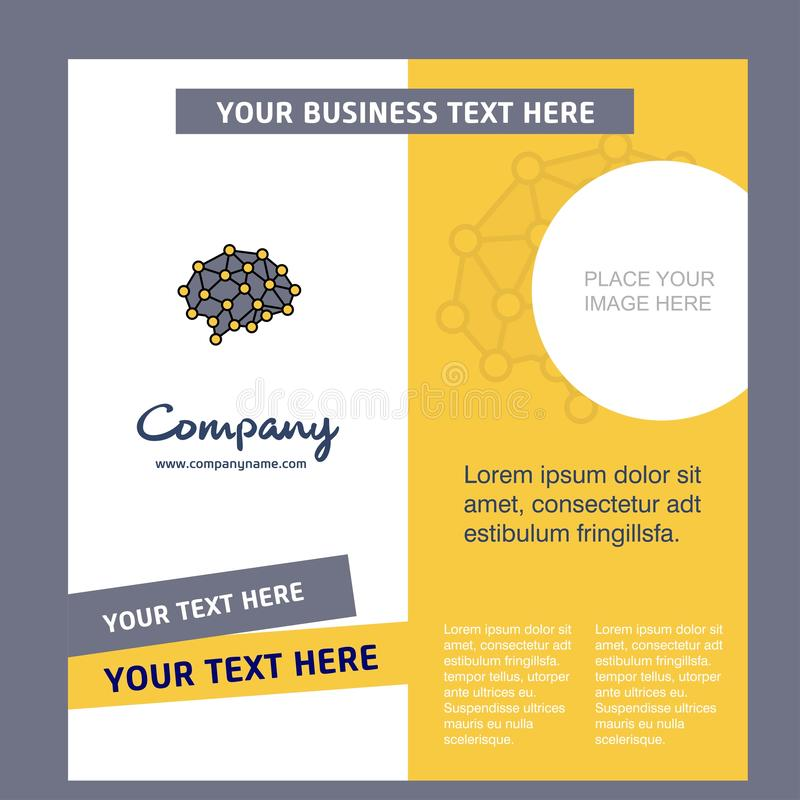 Brain Company Brochure Template Molde de Busienss do vetor ilustração royalty free