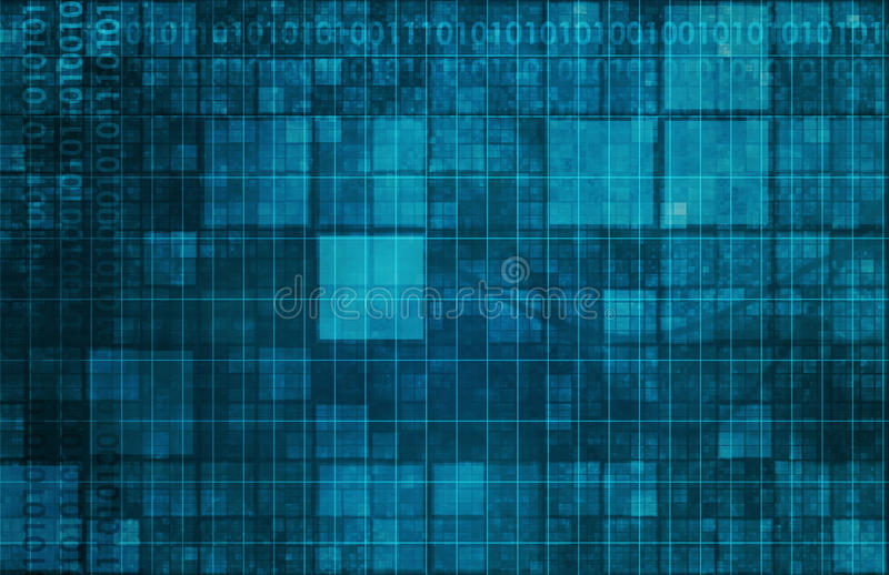 Brain Computer Interface royalty-vrije illustratie