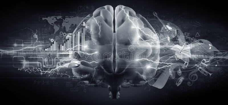 Brain Concept ilustração do vetor