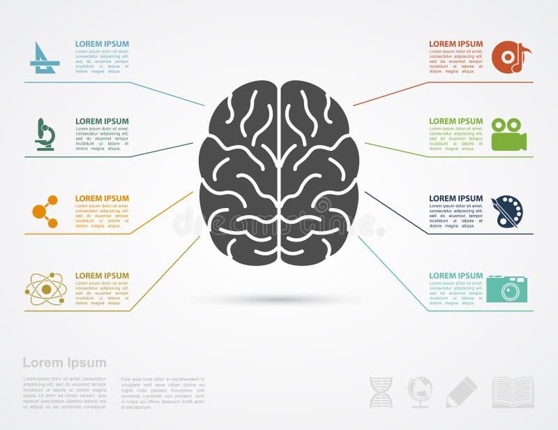 Brain Concept royalty-vrije illustratie