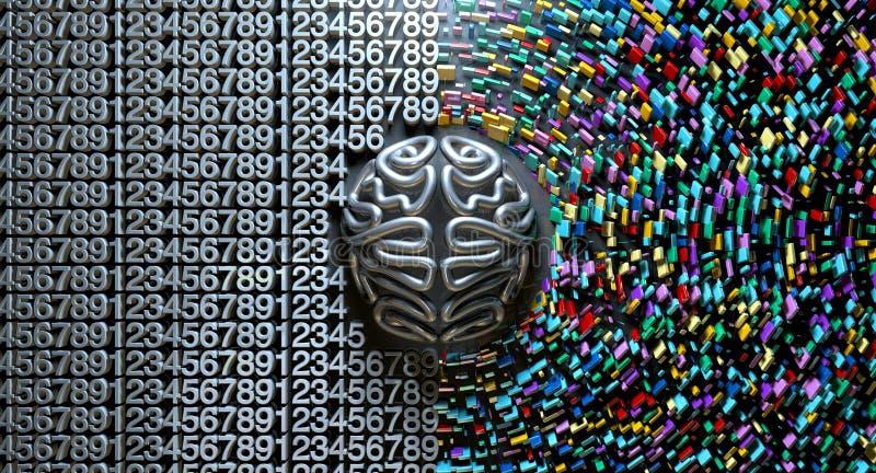 Brain Concept destro e sinistro immagini stock libere da diritti