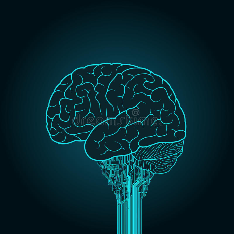 Sci Fi Brain : The brain is connected to electronic device