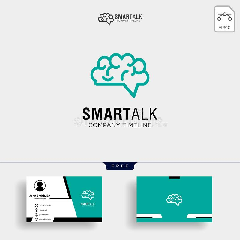 Brain Consult logo designs, Brain logo icon with business card template royalty free illustration