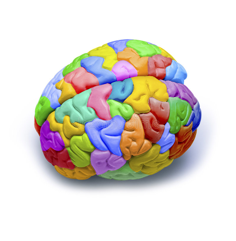 Rainbow Brain Creativity Psychology royalty free stock image