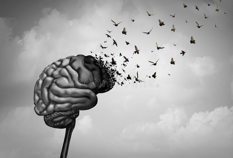 Brain Damage stock de ilustración