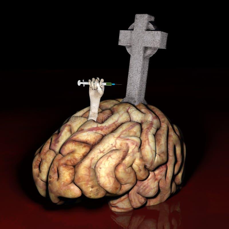 Download Brain Dead - Drugs stock illustration. Image of marker - 28485118