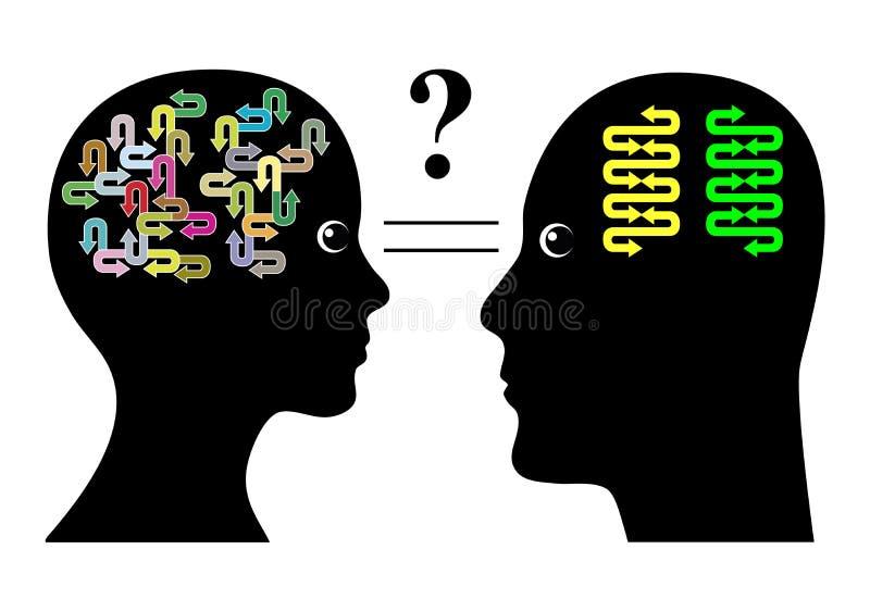 Brain Differences stock abbildung