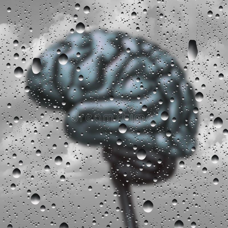 Brain Disease Concept illustration stock