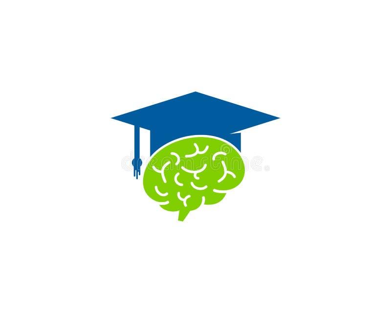 Brain Education Icon Logo Design-Element lizenzfreie abbildung