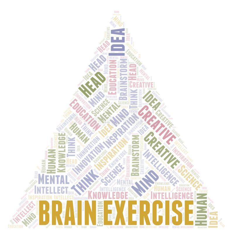 Brain Exercise word cloud royalty free illustration