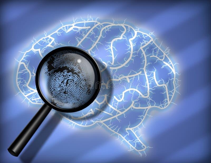 Download Brain Fingerprint stock illustration. Image of identity - 5174142