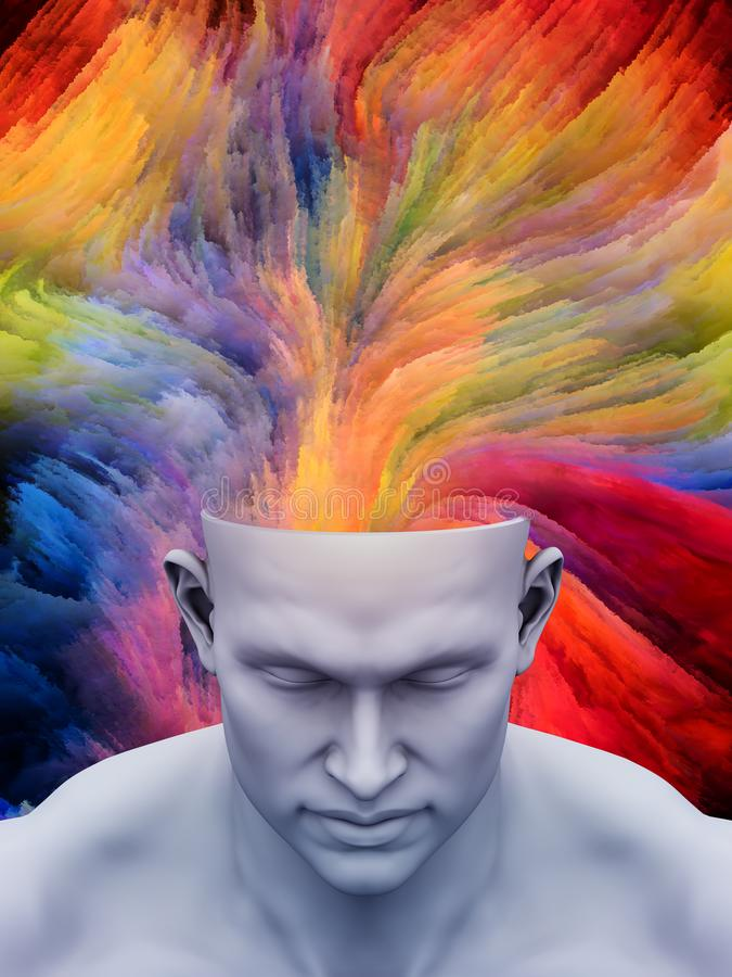 Brain Fog royaltyfri illustrationer
