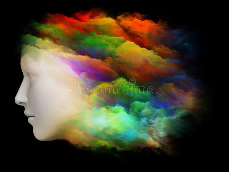 Brain Fog illustration stock