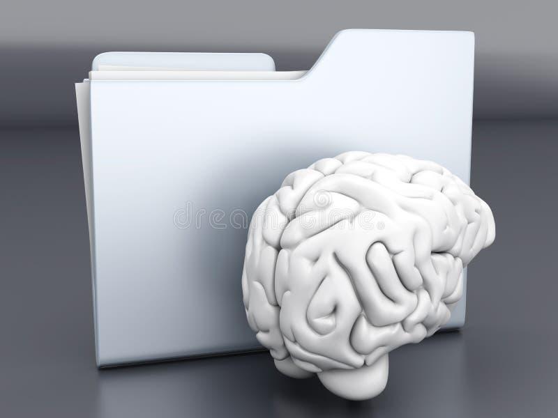 Brain Folder stock illustratie