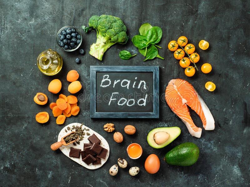Brain Food-Konzept, Draufsicht lizenzfreies stockbild