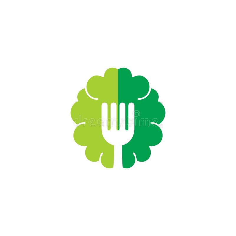 Brain Food Logo Icon Design lizenzfreie abbildung