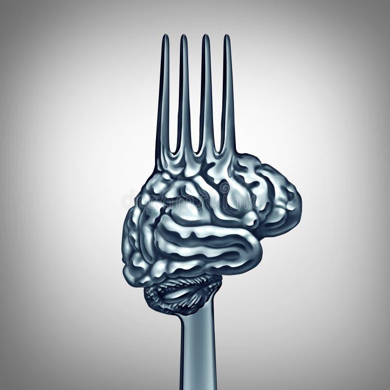 Brain Food Symbol royaltyfri illustrationer